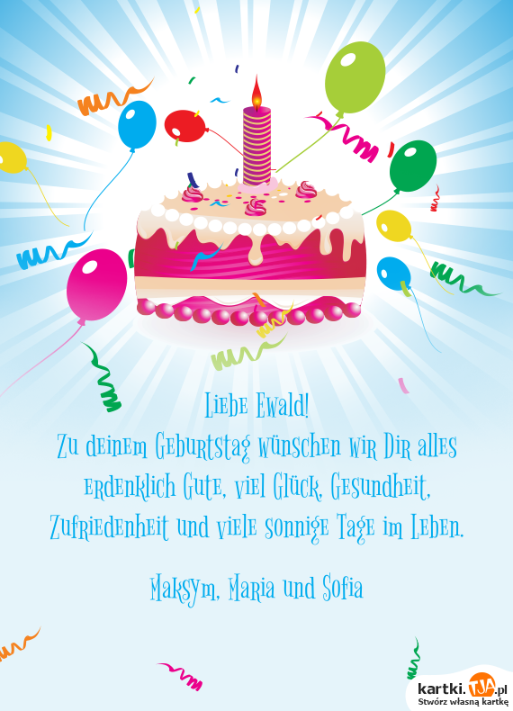Erdenklich Gute Zum Geburtstag