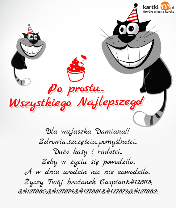 Dla Wujaszka Damiana Darmowe Kartki