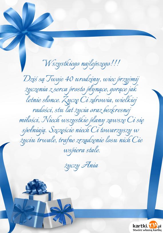 Dziś Są Twoje 40 Urodziny Wiec Przyjmij życzenia Z Serca