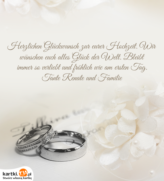 Herzlichen Glückwunsch Zur Eurer Hochzeit Wir Wünschen Euch Alles