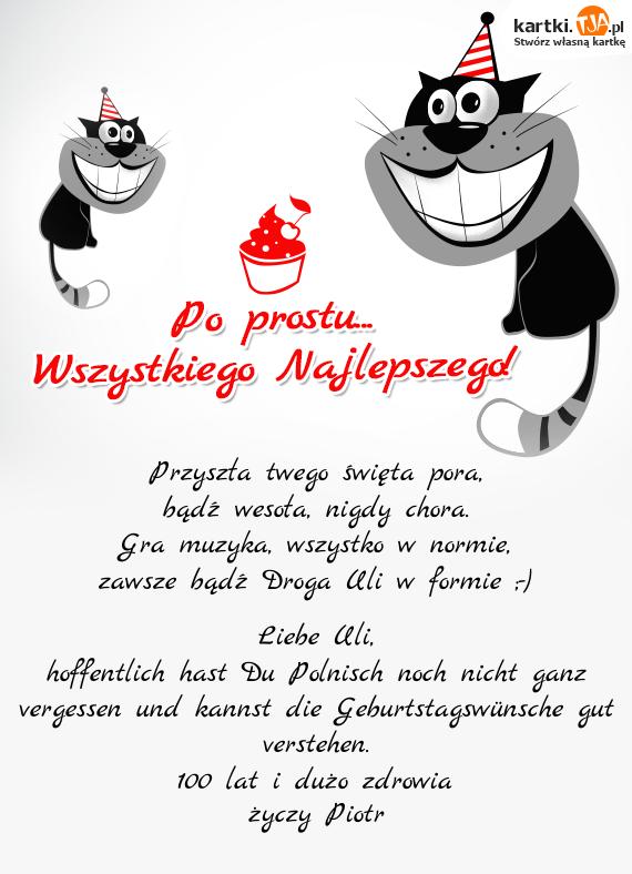 Geburtstagswunsche polnisch liebe