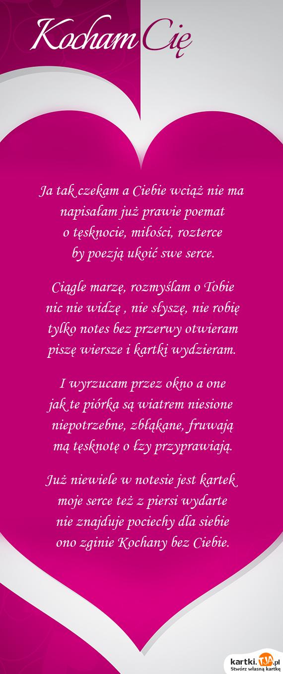 Wiersze O Miłości I Tęsknocie Wiersze O Mioci 2019 11 05