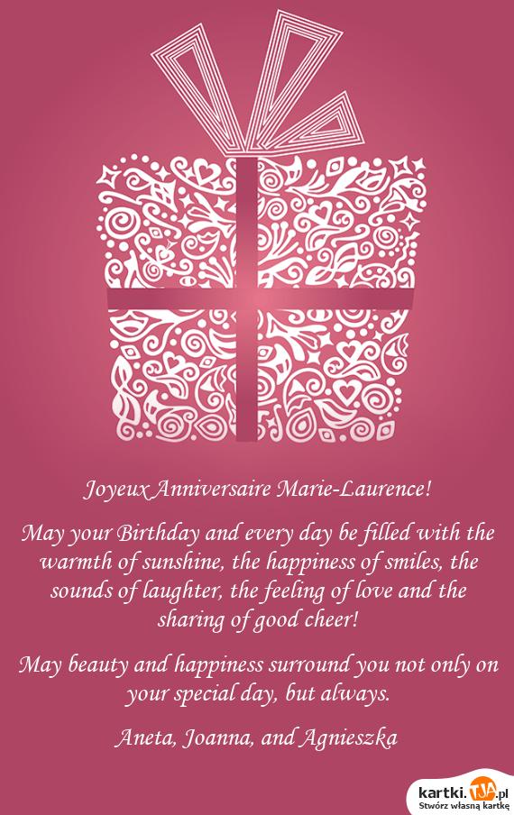 Joyeux Anniversaire Marie Laurence Darmowe Kartki