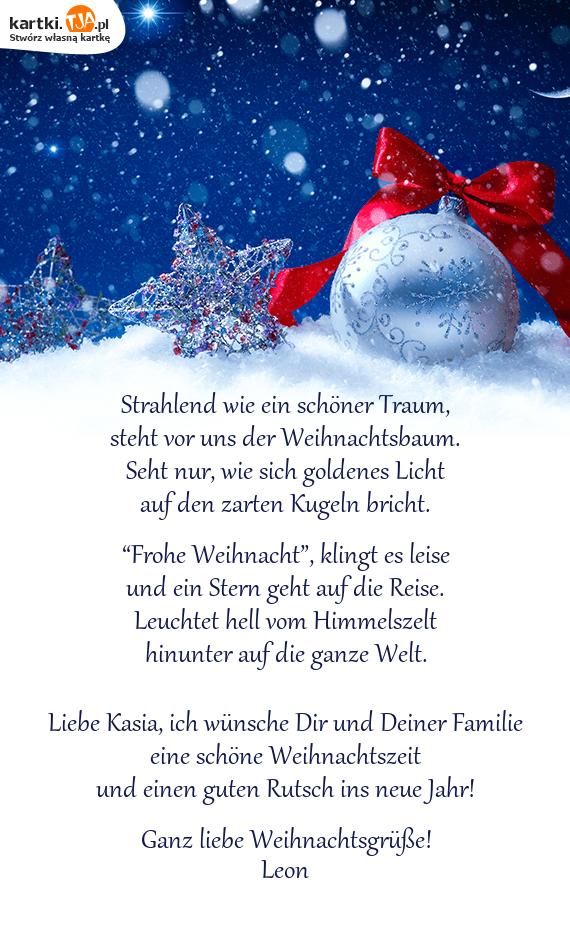 Frohe Weihnachten Wünsche Ich Dir Und Deiner Familie.Liebe Kasia Ich Wünsche Dir Und Deiner Familie Darmowe Kartki