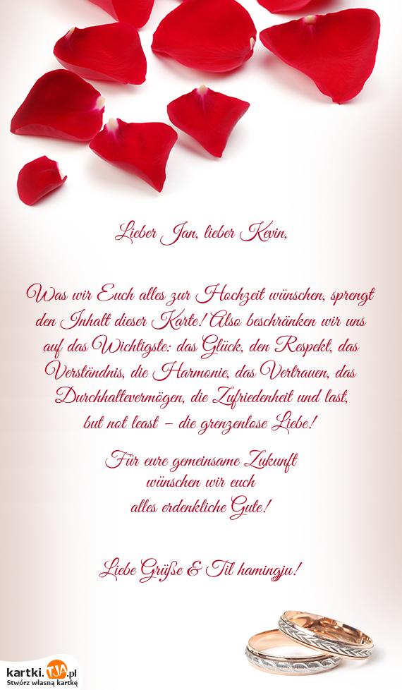 Wir Wünschen Euch Alles Gute Zur Hochzeit