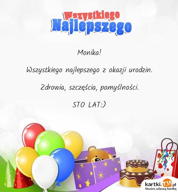 monika  wszystkiego najlepszego z okazji urodzin