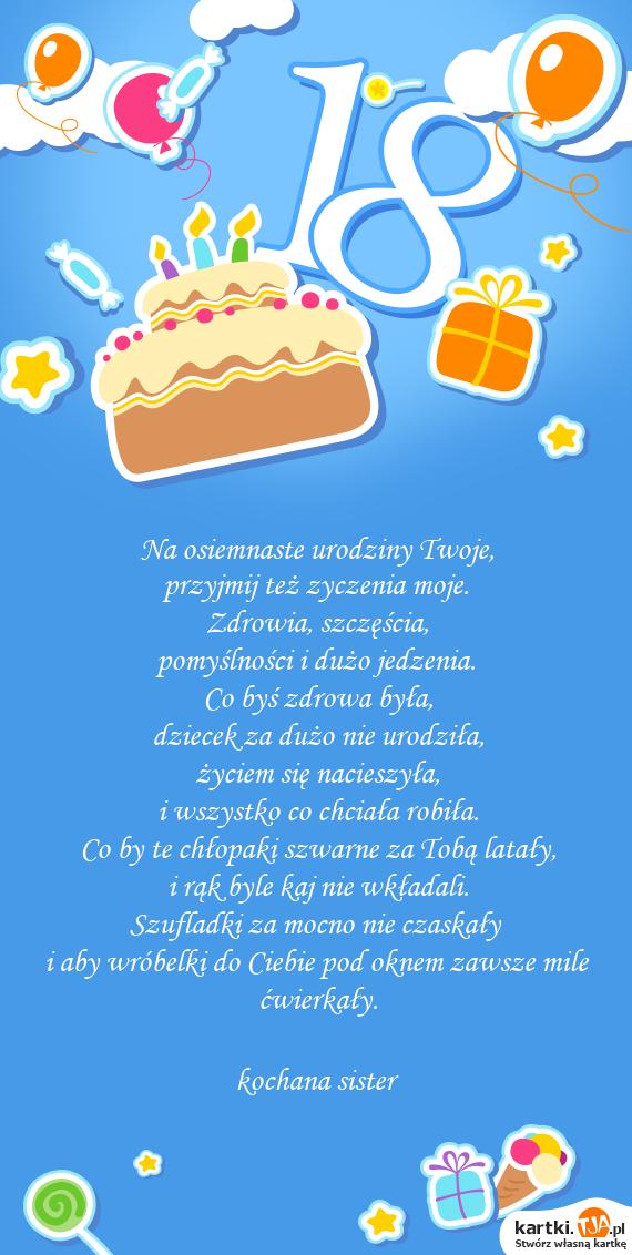Na Osiemnaste Urodziny Twoje Darmowe Kartki