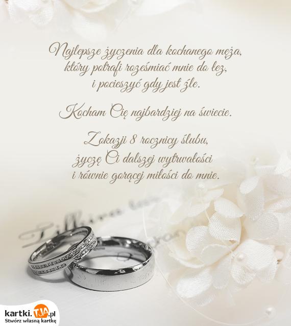 Najlepsze życzenia Dla Kochanego Męża Darmowe Kartki