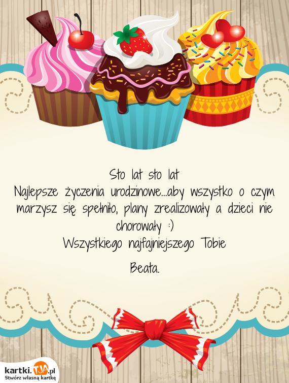 Najlepsze życzenia Urodzinoweaby Wszystko O Czym Marzysz Się