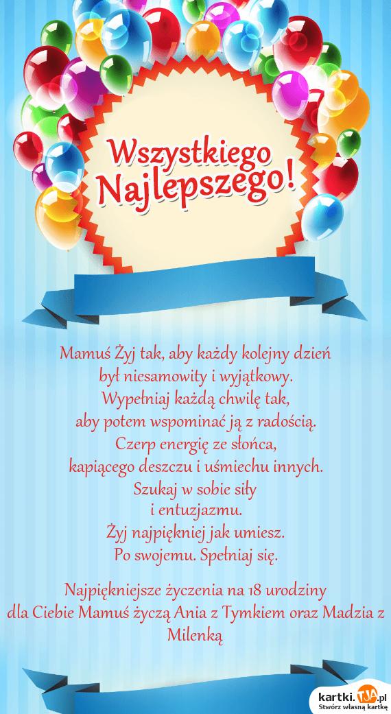 Kartka na 18 Urodziny - Nieziemskich Imprez dla Niej
