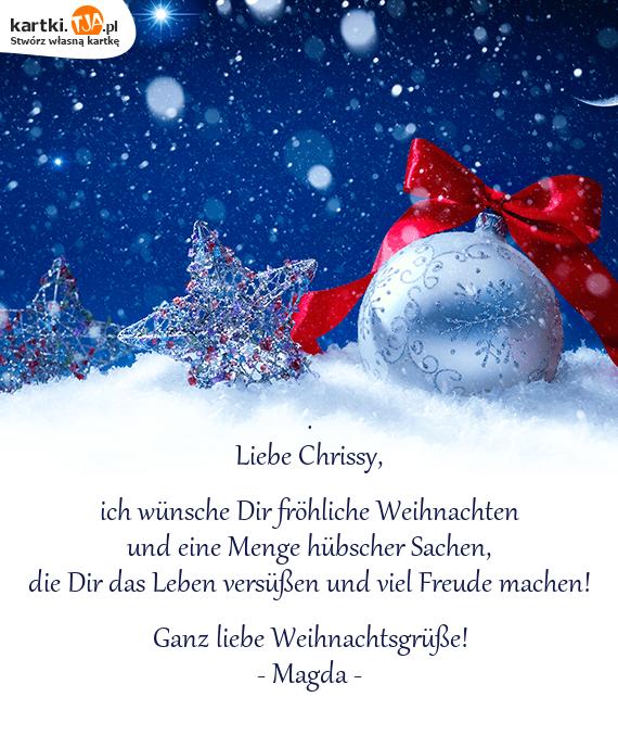 Ganz Liebe Weihnachtsgrüße.Und Eine Menge Hübscher Sachen Darmowe Kartki