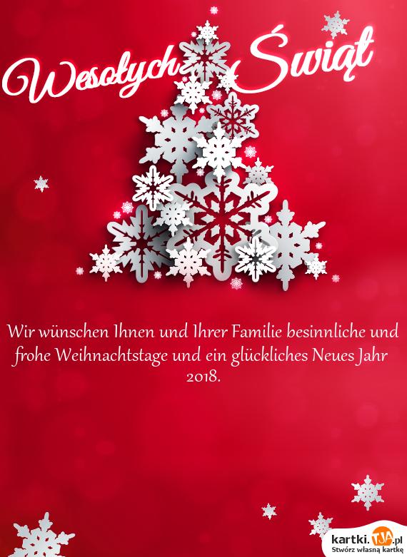 Wir wünschen Ihnen und Ihrer Familie besinnliche und frohe ...