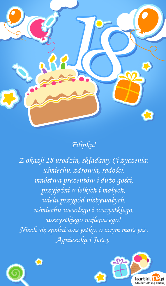 Best 50 życzenia Urodzinowe Z Okazji 18 Urodzin Kagawa